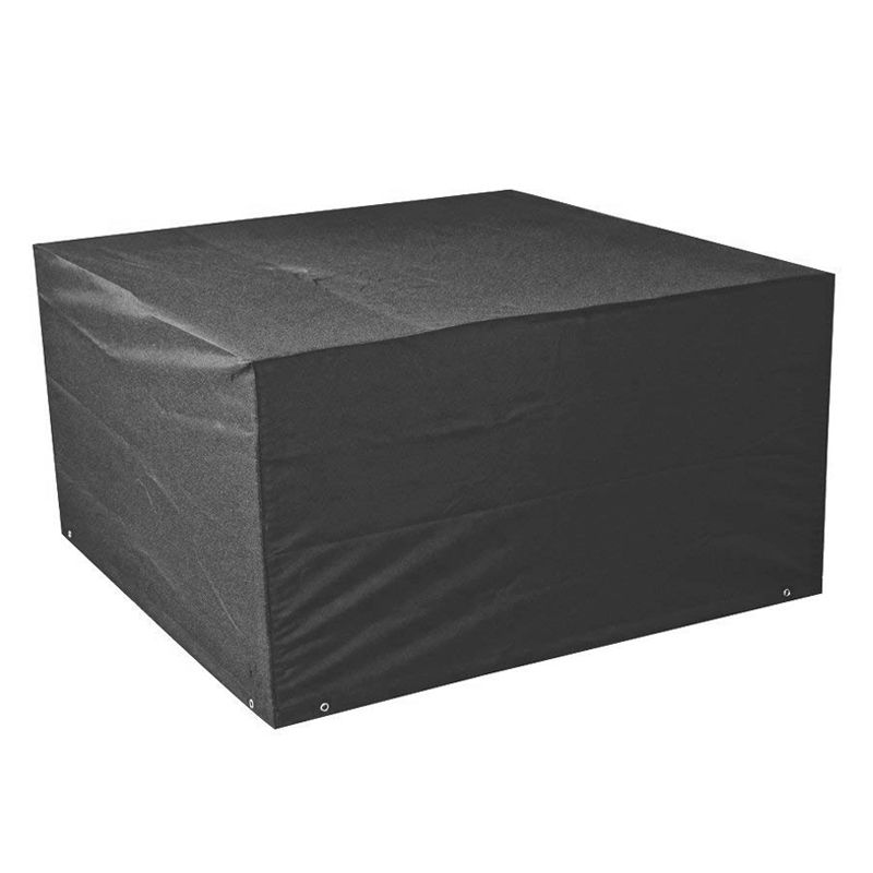 Bosmere Modular Large 4 Seater Cube Set Cover Black