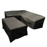 See more information about the Bosmere Modular Large L Shape Dining Set Cover Right Side Black
