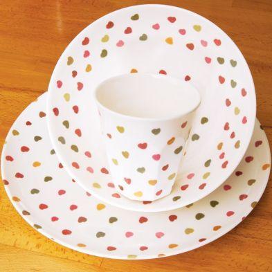7.5 Inch Bowl Sweetheart Melamine
