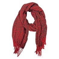 See more information about the Blanket Scarf - Red And Black Speckle