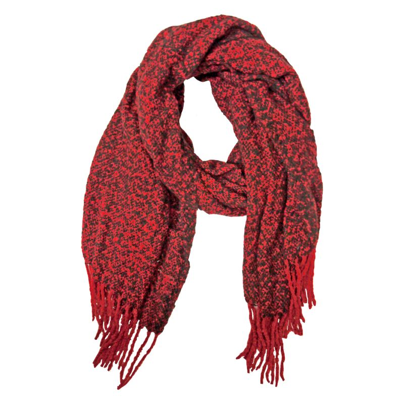 Blanket Scarf - Red And Black Speckle