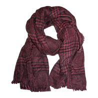 See more information about the Blanket Scarf - Burgundy Check