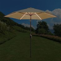 See more information about the Tadlow 2.7m Beige Parasol with LED Lights
