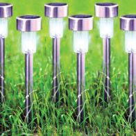 See more information about the Bright Garden 6 Pack Stainless Steel Solar Light