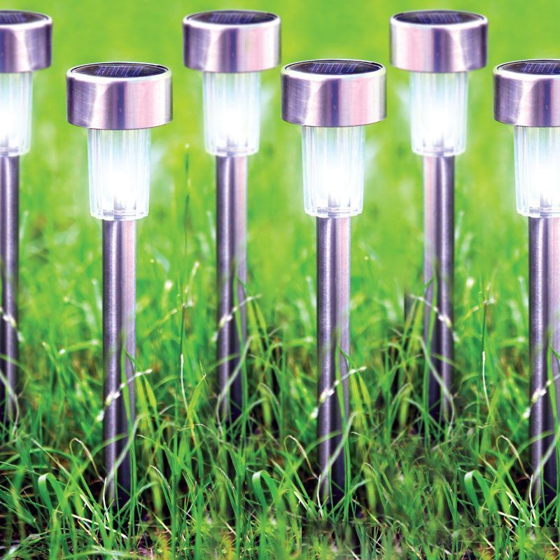Bright Garden 6 Pack Stainless Steel Solar Light
