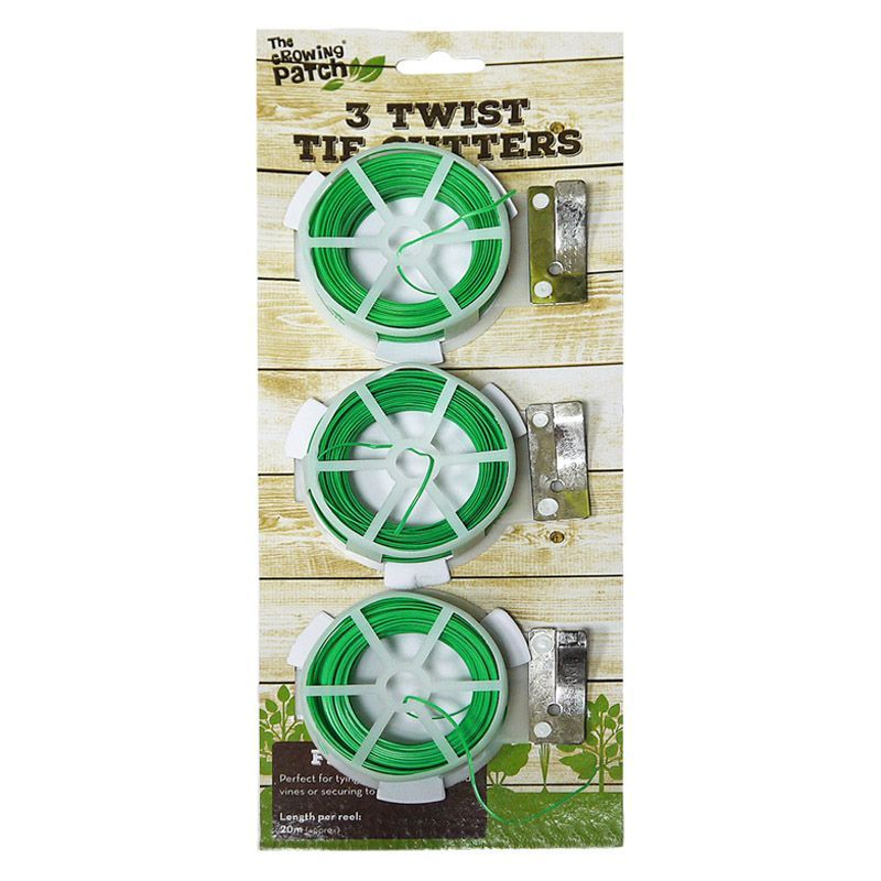 3 Pack Twist Tie Cutter Plastic Covered Wire Plant Support