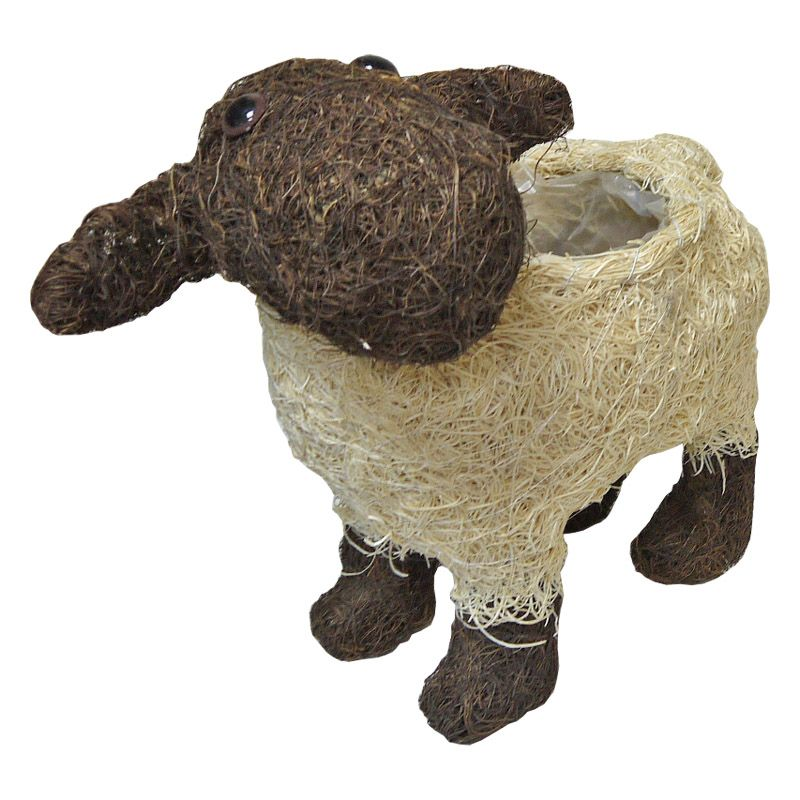 Sheep Rattan Planter Large