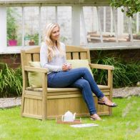 See more information about the Caroline Two Seater Bench With Storage Box