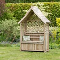 See more information about the Norfolk Arbour With Storage Box