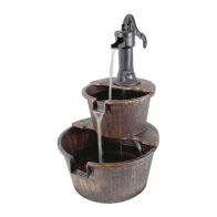See more information about the 2 Tier Outdoor Barrel Fountain Water Feature