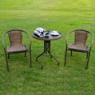 See more information about the Brown Belsay Rattan Bistro Set