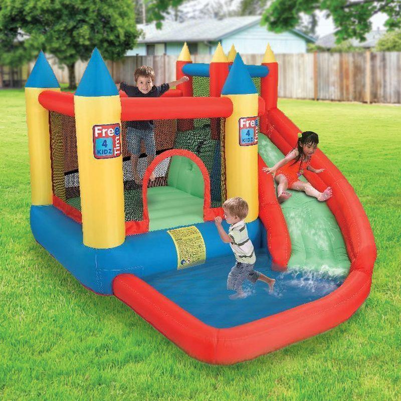 Mega bouncy children 39 s garden water slide buy online at for Children s garden pools