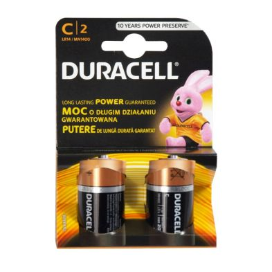Image of 2 Pack Duracell C Size Alkaline Battery