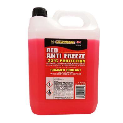 Silverhook Anti Freeze Summer Coolant Red - 4.54L