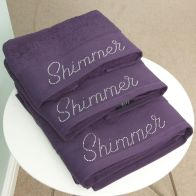 See more information about the Bath Sheet Plum Shimmer