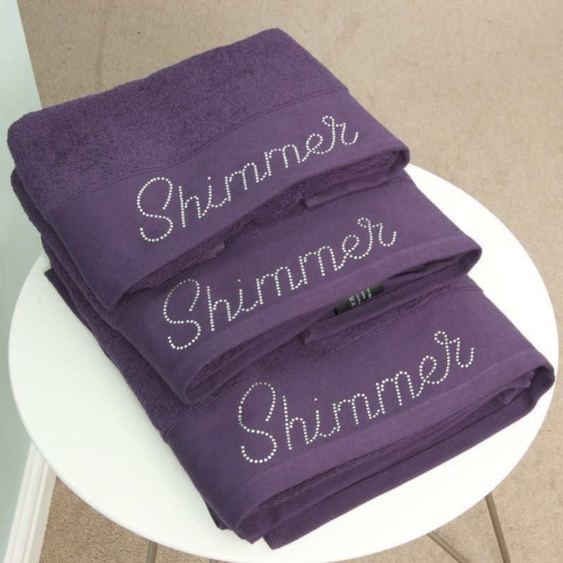 Cotton Mill Bath Sheet Plum Shimmer