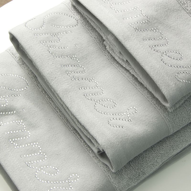 Cotton Mill Bath Towel Grey Shimmer
