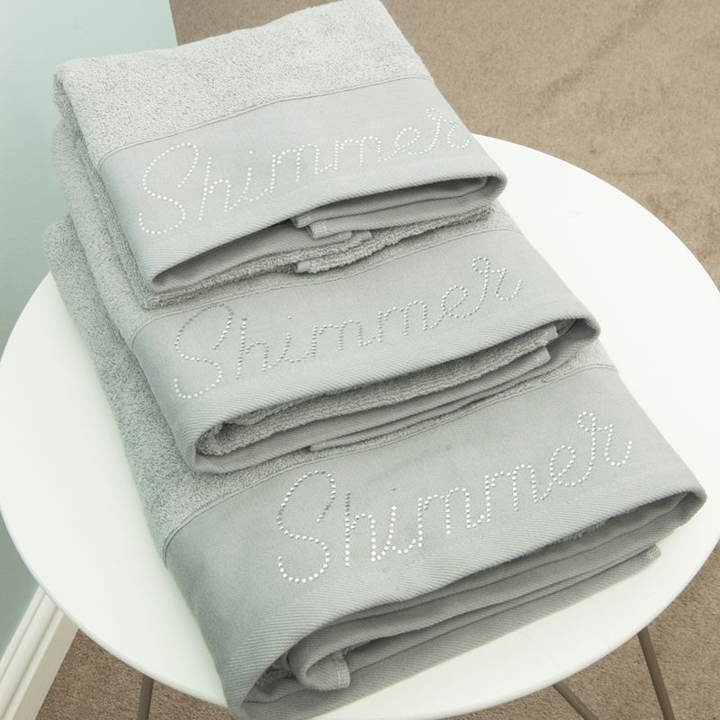 Cotton Mill Bath Sheet White Shimmer