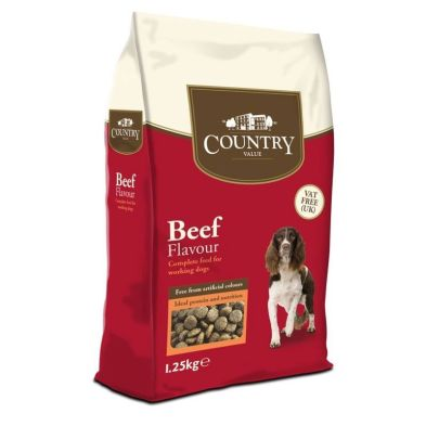 1.25kg Country Value Beef Dog Food