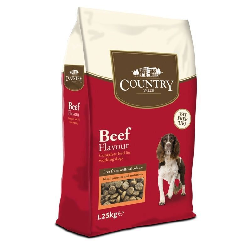 Country Value Beef Dog Food (1.25kg)