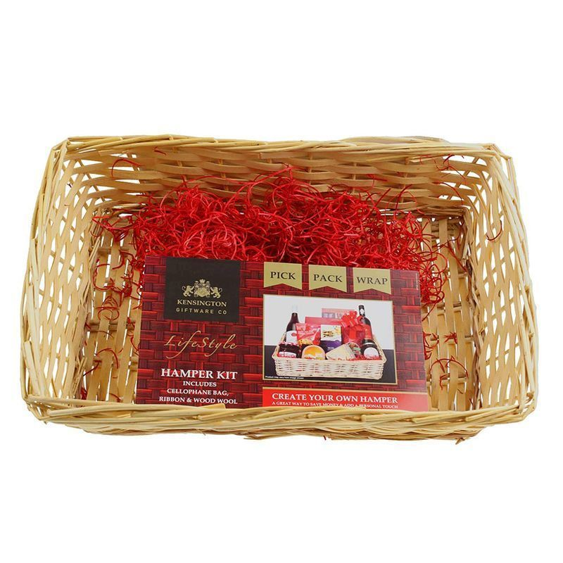 Create Your Own Gift Hamper Kit Small Light Wicker - Small