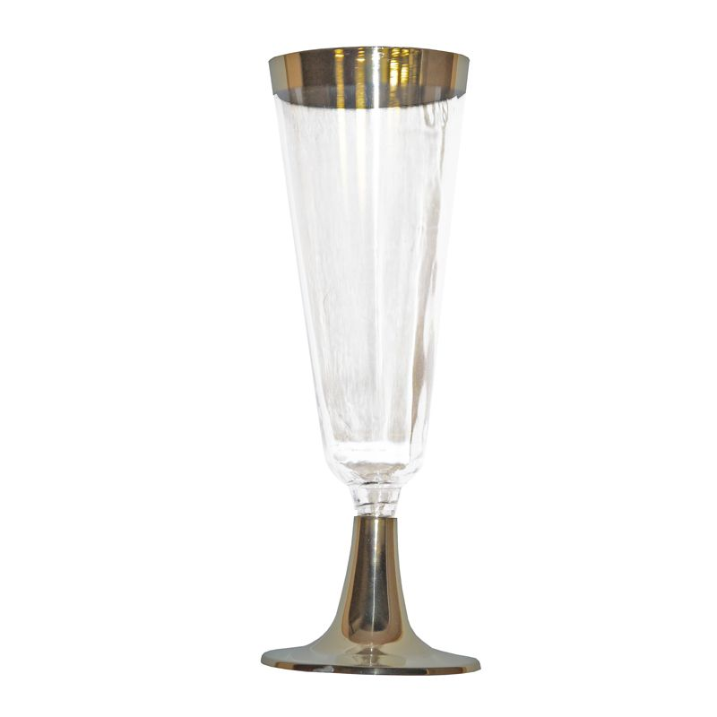 10 Pack Gold Rim Champagne Flute