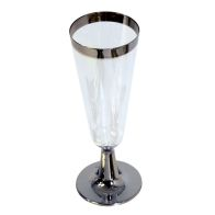 See more information about the 10 Pack Silver Rim Champagne Flute