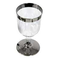 See more information about the 10 Pack Silver Rim Wine Glass