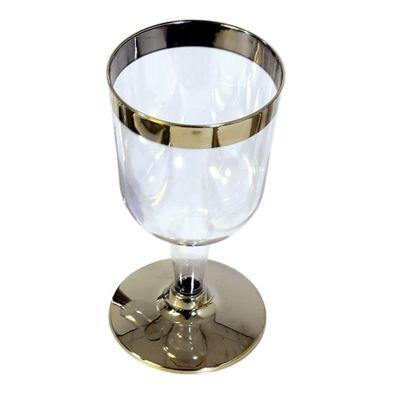 10 Pack Gold Rim Wine Glass