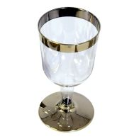 See more information about the 10 Pack Gold Rim Wine Glass