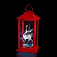 See more information about the Red LED Lantern With Deer