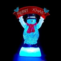 See more information about the LED Snowman Hang Red Xmas