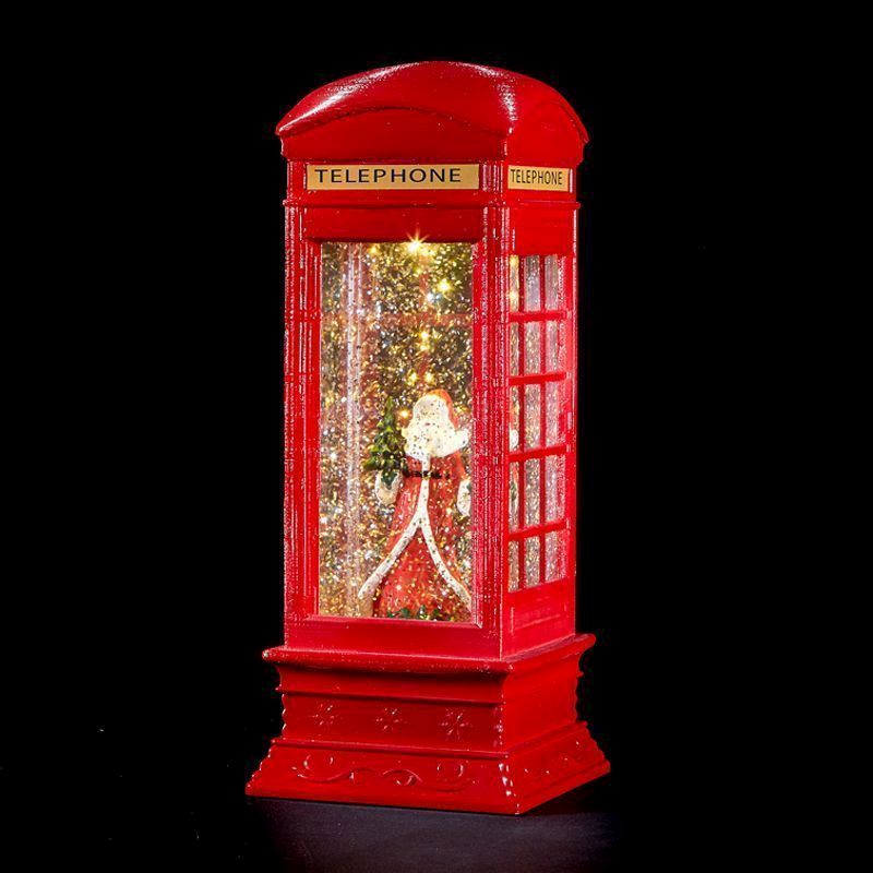 Led Red Post Box With Santa Decorative Christmas Light