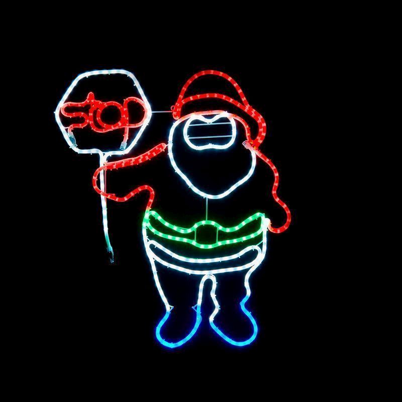 Santa stop sign flashing rope light buy online at qd stores santa stop sign flashing rope light aloadofball Images