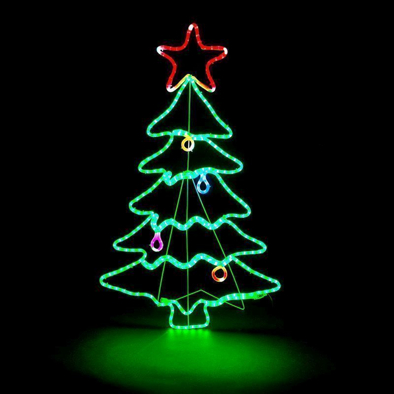 288 LED Multicoloured Outdoor Animated Christmas Tree