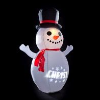 See more information about the 6 Foot Picture Light Show Inflatable Snowman