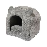 See more information about the Grey Teddy Bear Cat Bed
