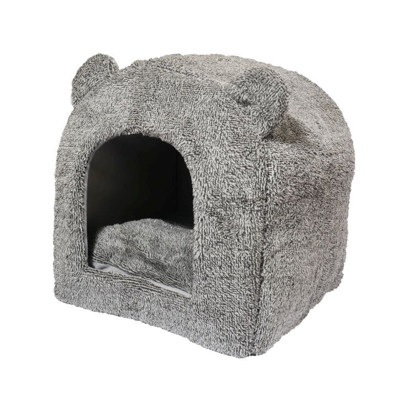 4d31e1207a2 See more information about the Grey Teddy Bear Cat Bed