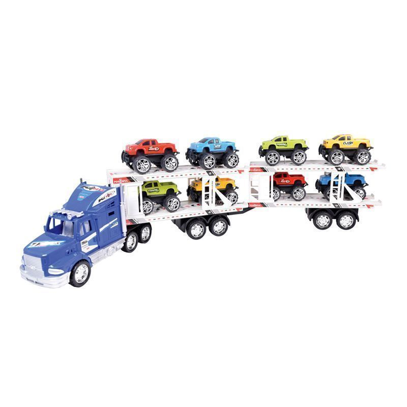 Car Transporter Truck Blue