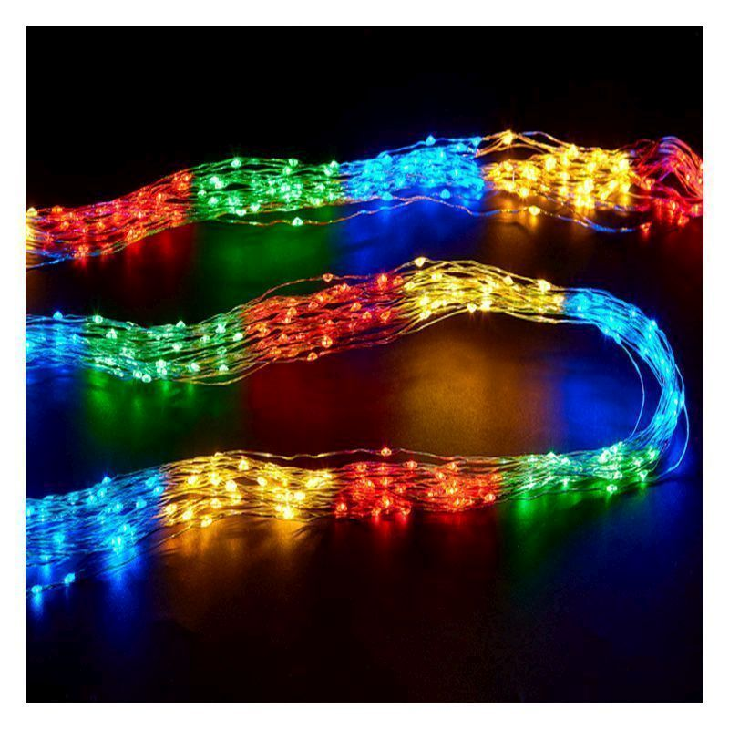 400 LED Indoor Multicolour 20 Strand Cluster Feature Light Mains 2m