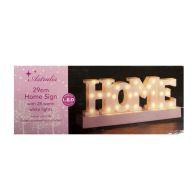 See more information about the 28 LED Warm White Indoor HOME Sign Light Decoartion Battery 29x12cm