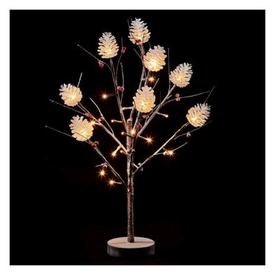 60cm (1 Foot 11 inch) Snow Warm White LED Light Tree