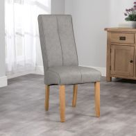 See more information about the Milan Dining Chair Grey & Faux Leather