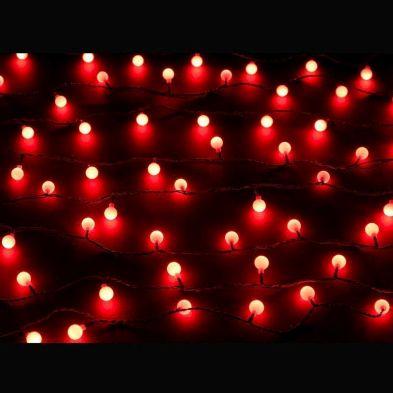 100 Light Ball Chain Red