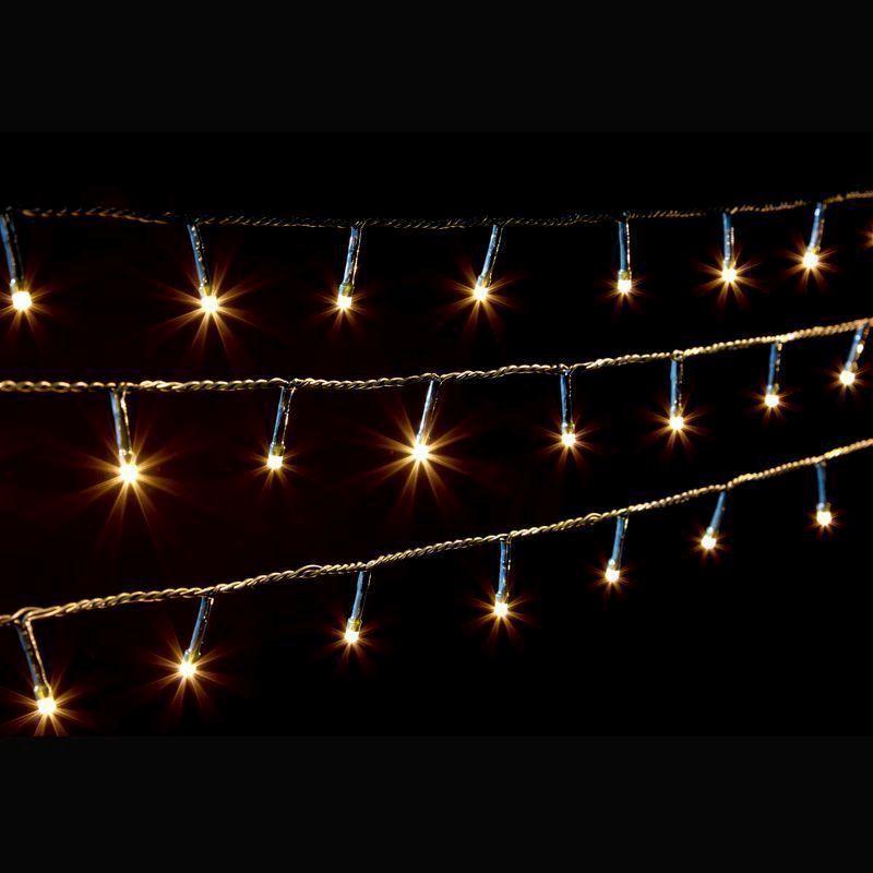 Outside Fairy Lights B Q: 200 LED Warm White Outdoor Decorative Christmas Fairy