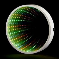 See more information about the 60 LED Multicoloured Indoor Static Infinity Light Round Frame Battery
