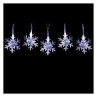 See more information about the 50 LED Ice White Outdoor Animated Snowflake Fairy Light Battery 7m