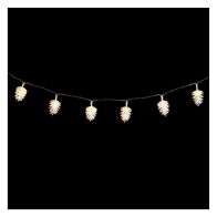 See more information about the 20 LED Warm White Indoor Static Pinecone String Lights Battery 2m