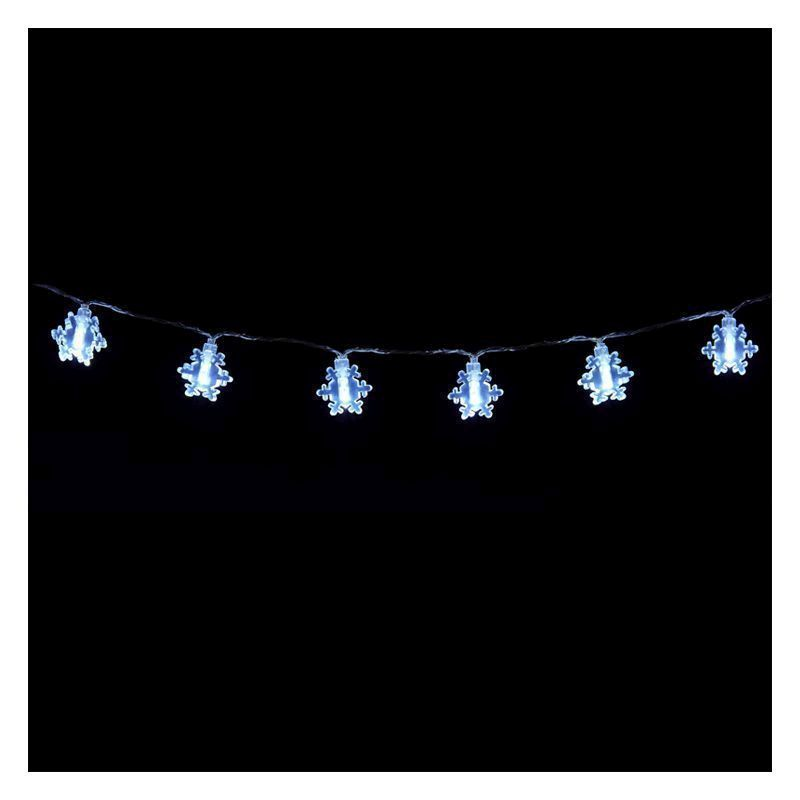 20 LED Ice White Indoor Snowflake Fairy Light Battery 1.5m