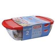 See more information about the Pyrex 2 Piece Candy Storage Set - Red